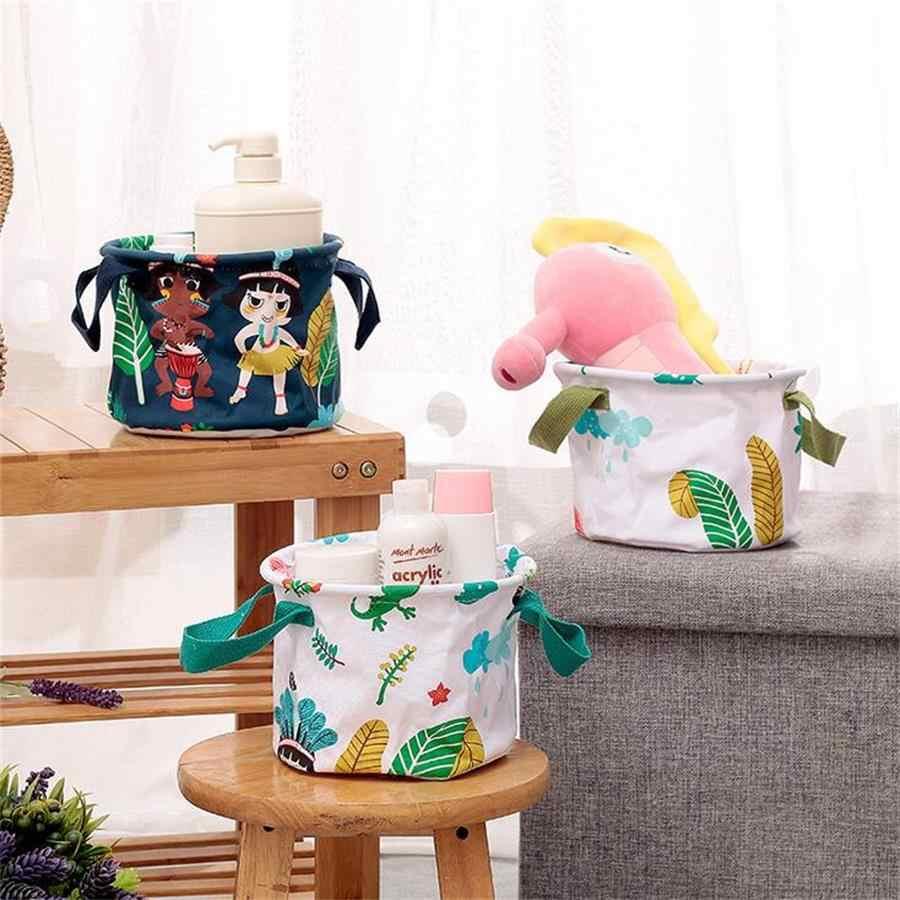 Retangulares de Tecido cesto de roupa suja Cesta De Armazenamento de Desktop Organizador Recipiente com Pegas para Roupas Íntimas, Cosméticos, Toalhas, Brinquedo Dos Miúdos
