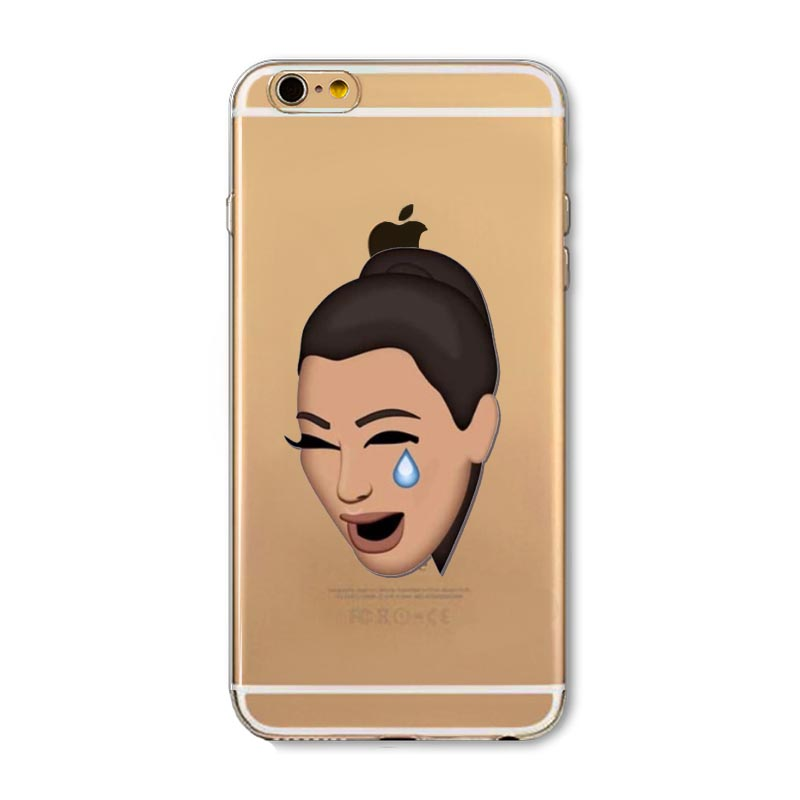 timeless design 76d4c 134aa US $1.81 30% OFF|New!! Funny Crying Face Kimoji Kim Kardashian Cases For  iphone 6 6s 4.7inch Clear Ultrathin TPU Cover For Apple 6s Coque Fundas-in  ...