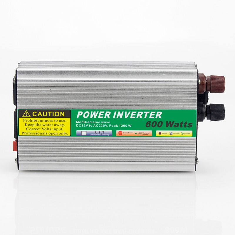 ФОТО MAYLAR@ 1pcs 600W Mini Size Car Power Inverter Converter DC 12V to AC 110V or 220V Modified Sine Wave Power Solar inverters