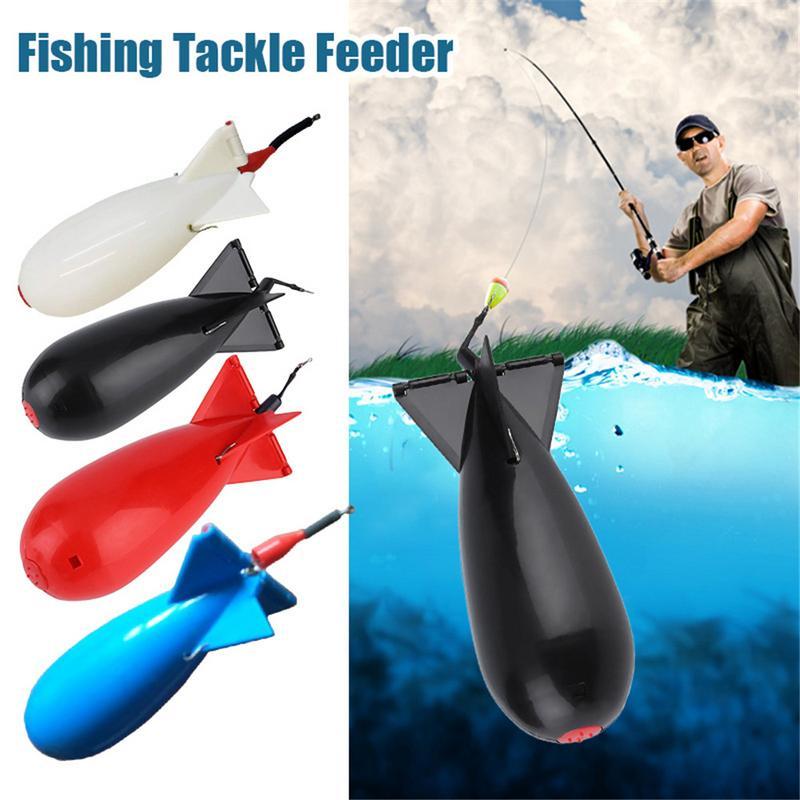 Squid Fishing Large Rocket Squid Bomb Fishing Gear Feeder Particle Rocket Feeder Float Bait Holder Tool