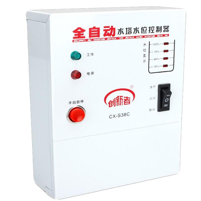 1600 w contrôleur de niveau d'eau automatique contrôleur de pompe citerne interrupteur de liquide automatique avec sondes 2.5 m - 3