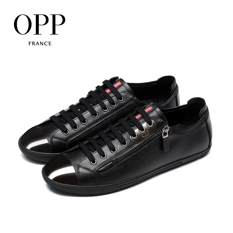 OPP Mens Oxfords Fashion Low Leather Lace-up Casual Shoes, Stitching Shoes