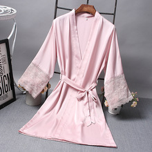 Bridesmaid Robes Satin Robe Bride Elegant Sleepwear Sexy Lac