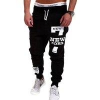Mens Joggers 2017 Brand Male Trousers Men Pants Casual   Pants  Sweatpants Jogger Black XXXL ADBBB