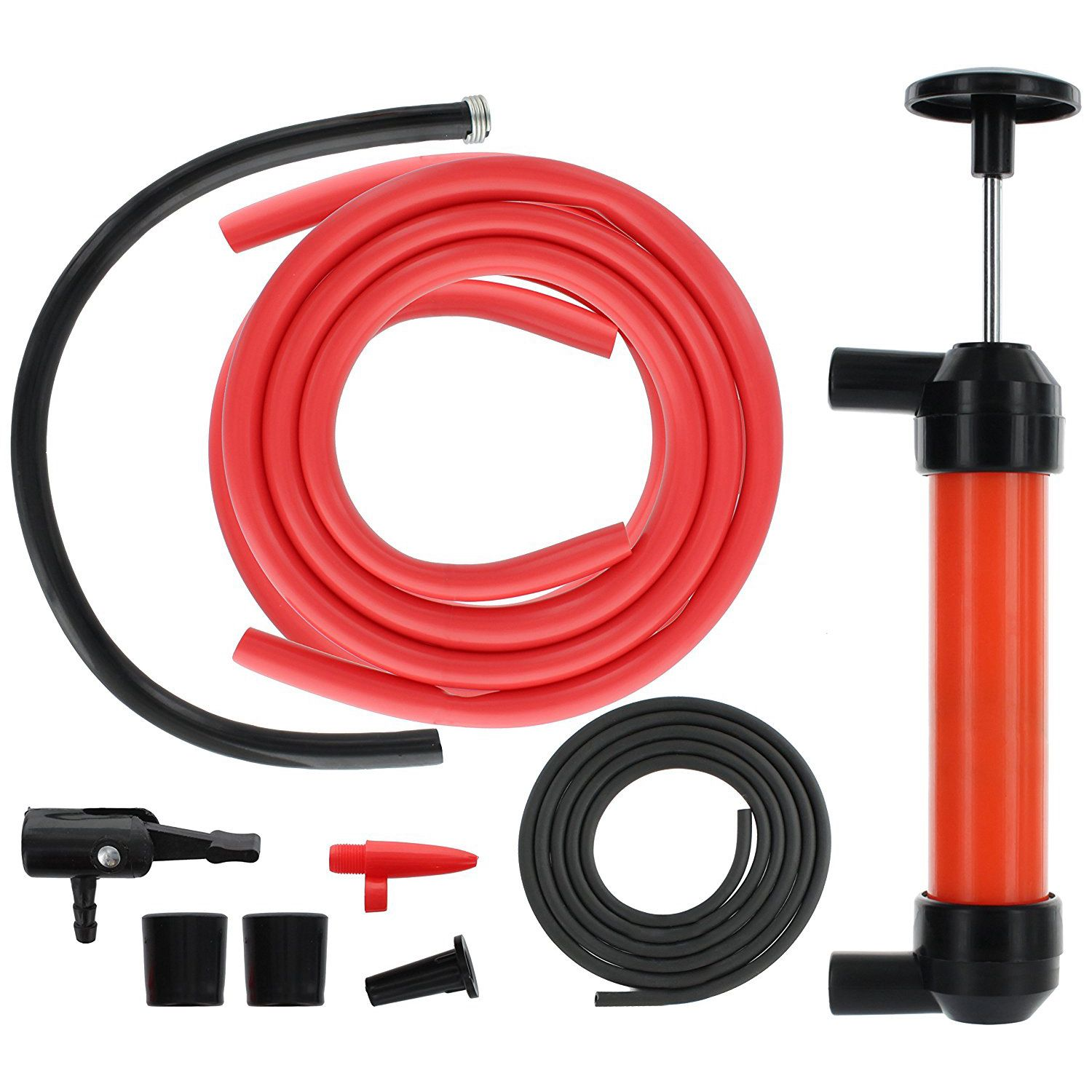 Portable Manual Oil Pump Siphon Tube Car Hose Fuel Gas Extractor Transfer Sucker Inflatable Pump Tool
