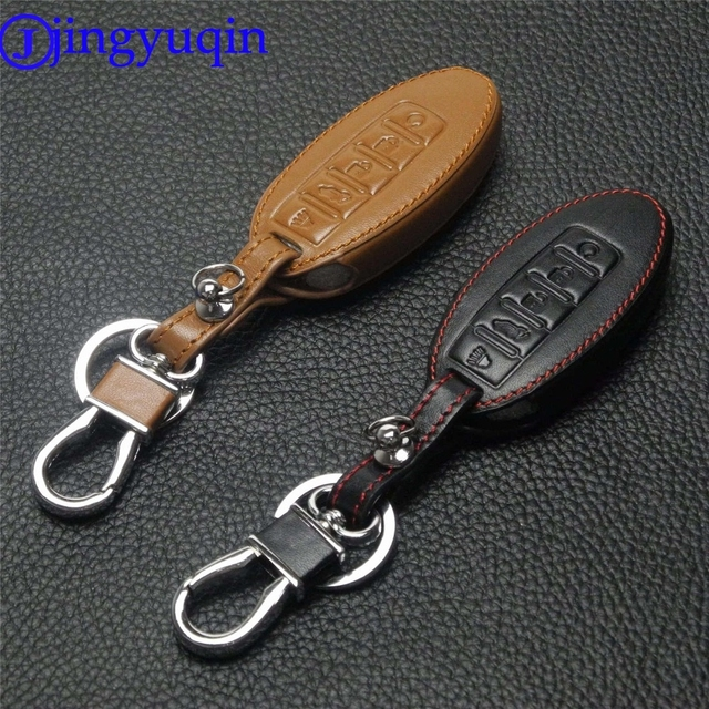 jingyuqin 5 Buttons Remote Leather Car Key Cover Case For Nissan Murano 2016-2017 Altima Maxima Infiniti EX FX G37 Q60 QX50 QX70