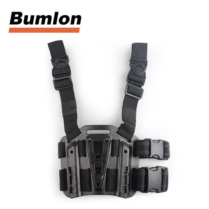 Tactical Drop Leg Thigh Rig Holster Platform Panel Plate for 1911 G17 31 0021P
