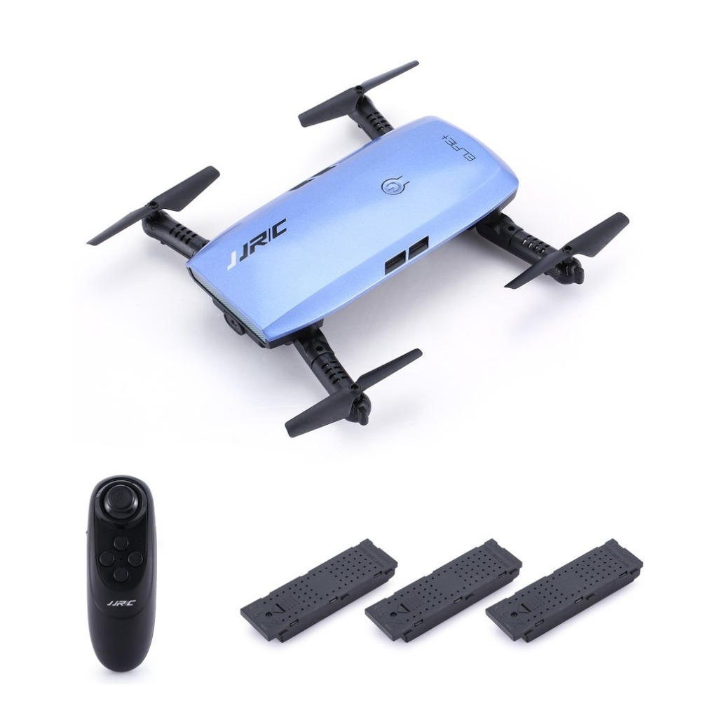 JJR/C H47 ELFIE WIFI FPV Drone With 720P HD Camera Altitude Hold Mode Foldable G-sensor Mini RC Selfie Quadcopter with 3 battery jjrc h47 mini drone with 720p hd camera elfie plus g sensor control foldable rc pocket selfie dron wifi fpv quadcopter helicopte