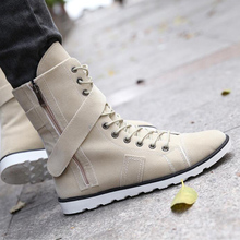 New Arrival Leather High Top Men Boots Solid Color Fashion Style Men Autumn Boots Casual Men Ankle Boots Winter Boots