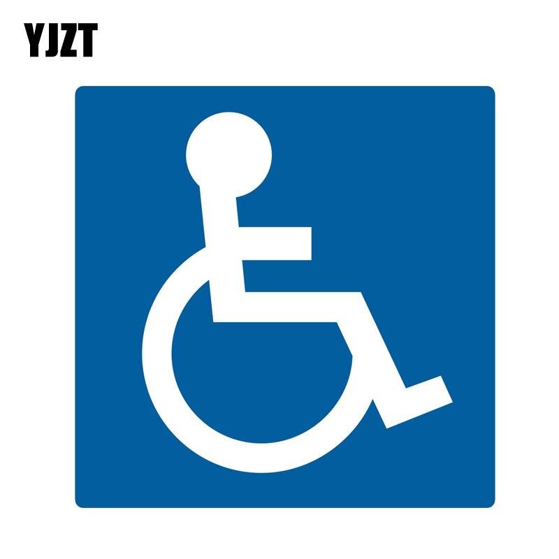 YJZT 13,9 см * 13,9 см наклейки гандикап парковки смешные ПВХ Предупреждение наклейка 12-0903