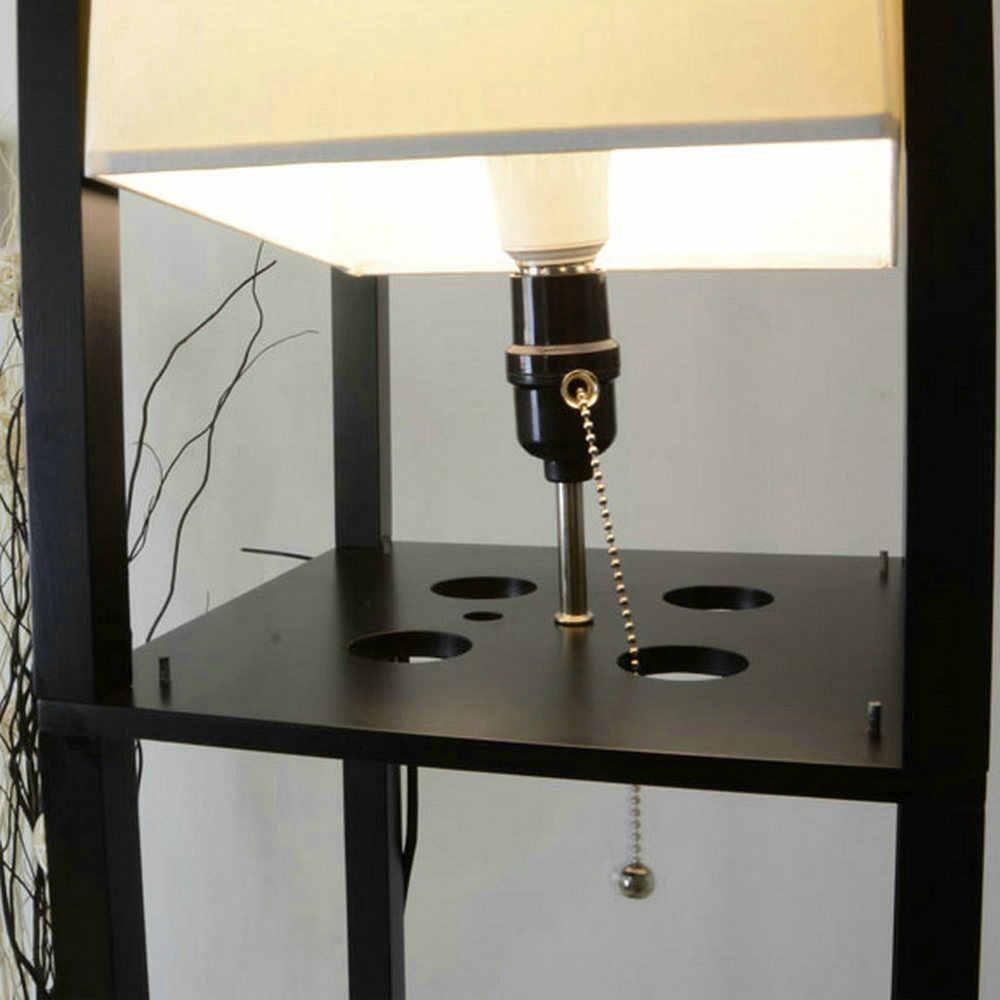 Современный LED, Декоративный Деревянный Чердак торшер черный, белый цвет торшер с Таблица полки для хранения дома Гостиная спальни