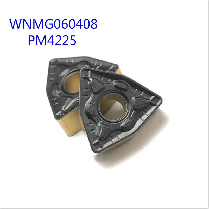20PCS WNMG060408 PM4225 External Turning Tool Carbide Insert Lathe Tool For CNC Machine Tool Milling Tool