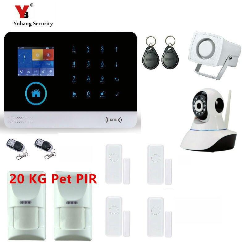 Wireless SIM GSM Home RFID Burglar Security LCD Touch Keyboard WIFI GSM Alarm System Sensor kit FR,RU,Spanish Voice