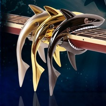 1pc New Arrival Professional Aluminum Alloy Guitar Capo Creative Shark Shape Design Guitar Accessories