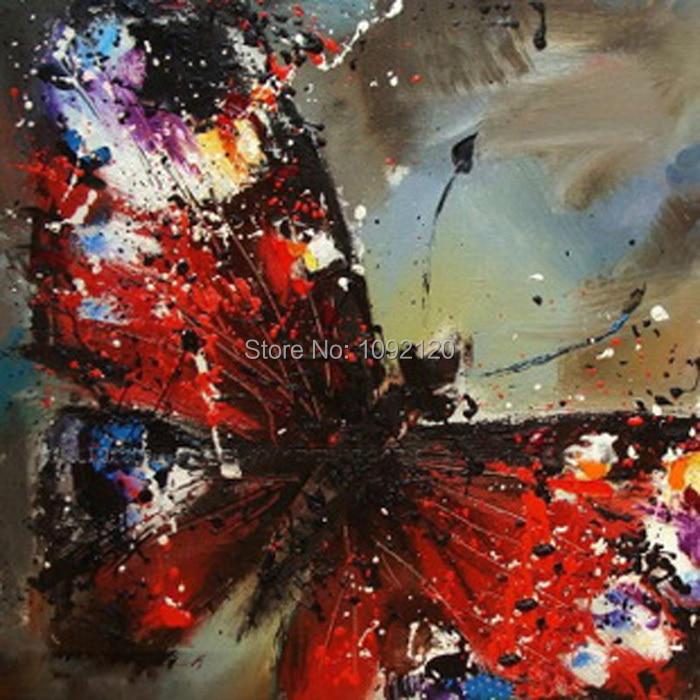 Ručně vyráběné krásné motýl malba pop art domácí dekorace - Dekorace interiéru