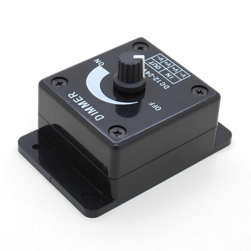 Черный светодиодный диммер DC 12 V 24 V 8A регулятор яркости лампы панель с лампочками драйвер одиночный цветной контроллер электропитания