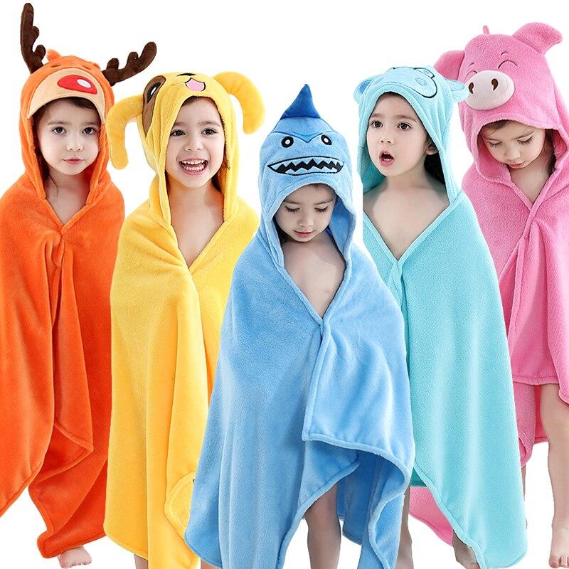 Baby Animal Cartoon Hooded Towel Beach Bath Robes Soft Children Poncho Towels Bathing Suit Towel For Boys Girls Kids Bathrobe 4