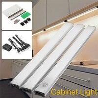 3ピース/キット28 led調光対応下キャビネットバーストリップライトusbタッチセンサークローゼット光ホームキッチンワードローブ食器棚ラン