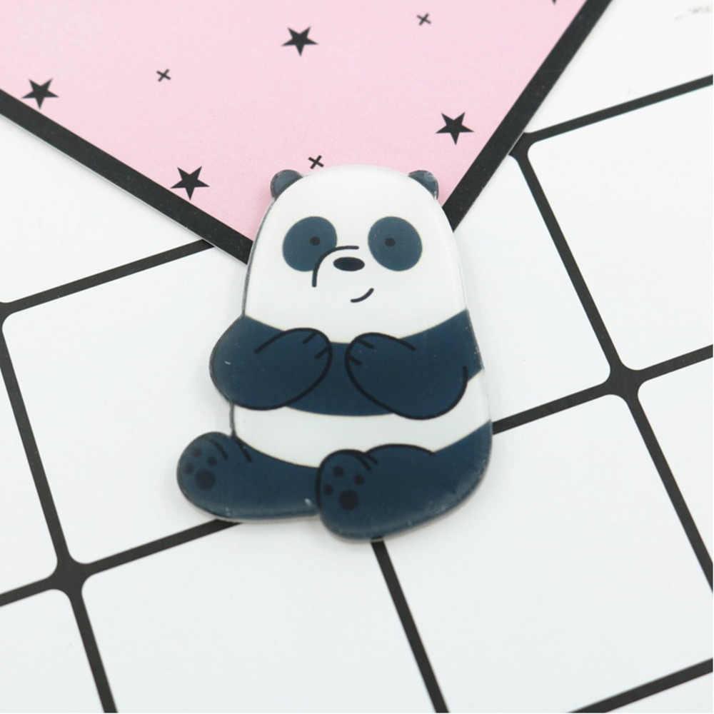 Pgy 1 Pièces Animal De Bande Dessinée Pin Ours Nus Mignon Grizzly Panda Glace Ours Denim Kawaii épinglettes En Gros Badges Cadeaux De Mode