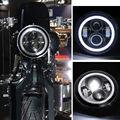 "Harley 7 ""LED Luces Proyector Daymaker Luces LED Bombilla Del Faro con Anillo de Halo Ojos del Ángulo para Harley-davidson motocicleta"