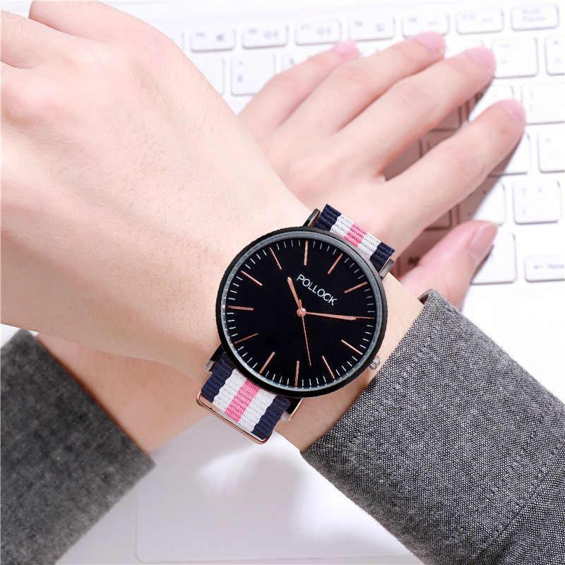 גבירותיי ניילון רצועת שעון אופנה נשים של שעוני ספורט שעון יד נקבה פשוט בד בנד קוורץ שעוני יד מתנה עבור בנות