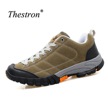 Thestron Military Men Boots Big Sizes Shoes Trekking Man Spring/Autumn Rock Climbing Shoes Men Blue/Green Sport Sneakers Men