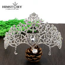 Wedding Bridal Crown Tiaras Rhinestone Crown Queen Bridal  Crystal Hair Accessories wedding jewelry Bridal Tiara недорого