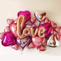Script Love Foil Balloons Kit Love Theme Marriage Room Decor Bachelorette Party Ideas Propose Wedding Decoration