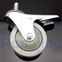 New 2 5 360 Degree Furniture Universal Caster With Brake PVC Screw Type Rolling Swivel Castor