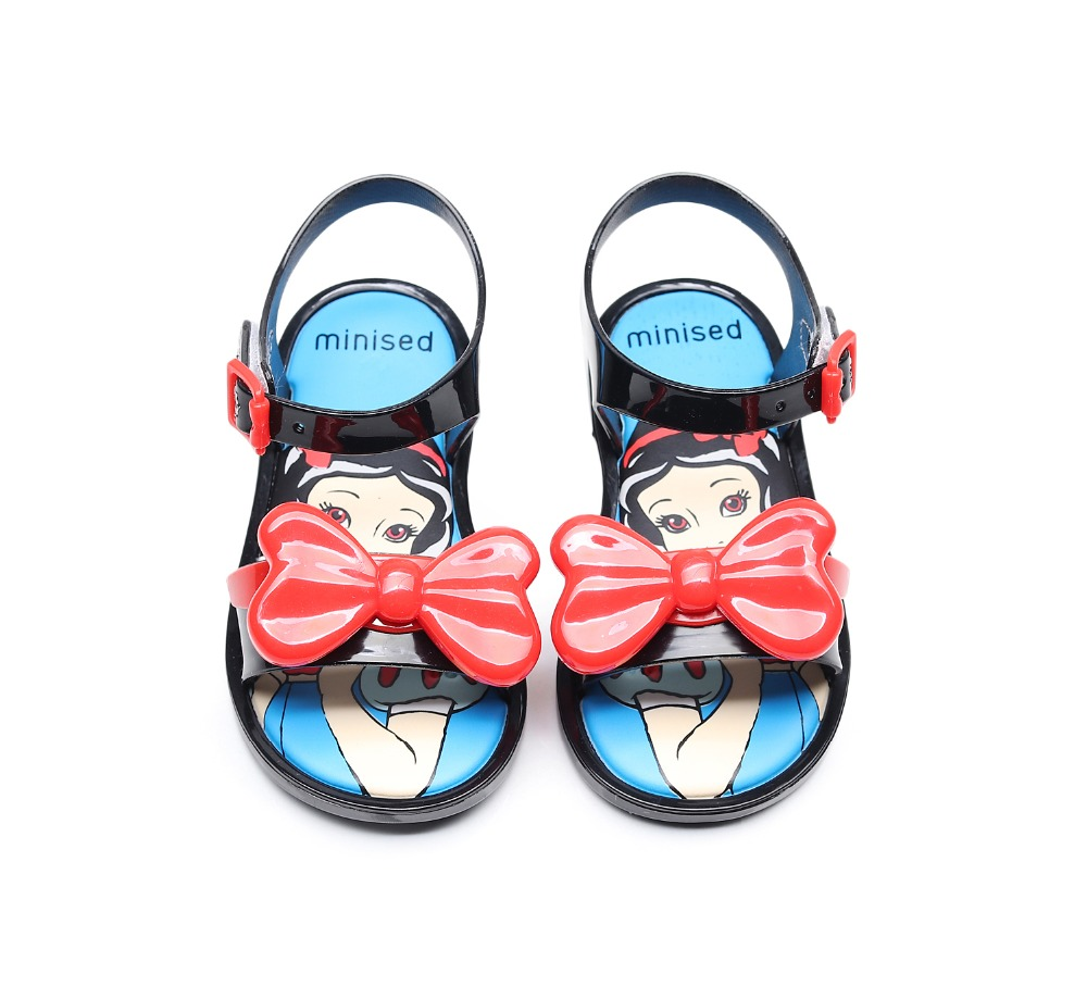 Mini Melissa Girls Shoes 2019 New Summer Princess Jelly Shoe Girl Non slip Kids shoes Beach Sandal Toddler Sandals 13 18cm in Sandals from Mother Kids