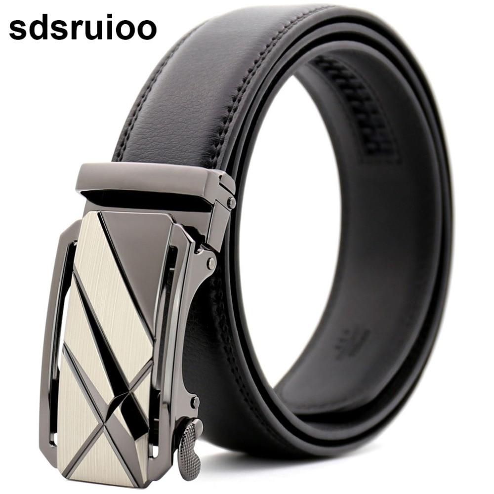 Designer Genuine Leather Belt Luxury Strap Male Automatic Buckle Belt Waistband