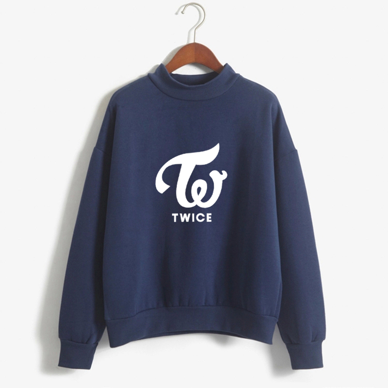 Harajuku Fashion Fleece Tops TWICE Hoodies Sweatshirts Long Sleeve Casual Hooded Pullovers High Quality Kpop Clothes Feminina