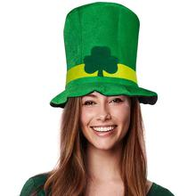 Irlandés St Patrick día trébol verde de terciopelo sombrero fiesta adulto  Cap trajes 97d21aa927b6