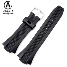 New Mens Military Black Silicone Rubber waterproof Strap for casio Watch Strap,Band width 28MM ,Convex width 16MM