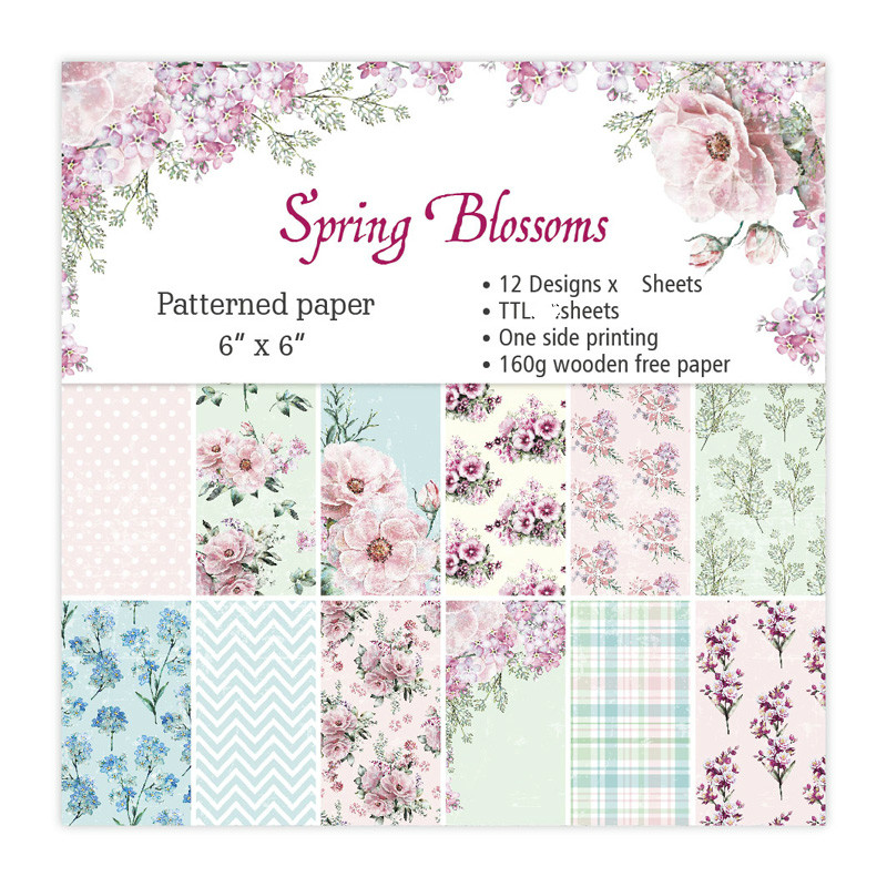 8x8 Assorted Patterns Reminiscence Designer Paper Collection Kit 40 Sheets