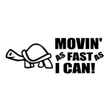 15.8*5.8cm Moving As Fast As I Can Animals Pattern Funny Car Stickers Decal Accessories for Toyota Corolla rav4 SSANG YONG Actyo стоимость