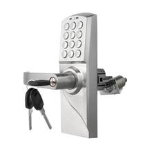 אלקטרוני קוד דלת מנעול חכם דיגיטלי לוח מקשים סיסמא, מפתח נירוסטה תפס אחד lk717BS