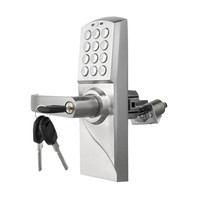 Electronic Code Door Lock Smart Digital Keypad Password, Key Stainless Steel Single Latch lk717BS