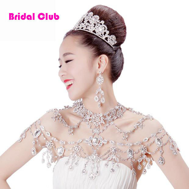 New Luxurious Wedding bridal chain Crystal shoulder chain wedding jewelry wedding necklace sexy bridal jewelry party chain