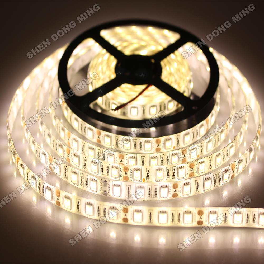 Waterproof 10m LED Strip IP65 5050 10 Meters 12V Smd5050 60leds/m Flexible Ribbon Tape 5m/roll RGB Warm White DC12V