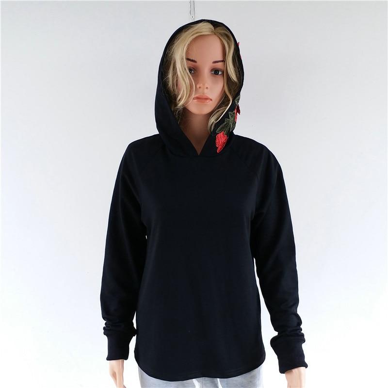 HTB1qbVZRVXXXXaYXVXXq6xXFXXXQ - FREE SHIPPING Floral Black Women Sweatshirt Hoodie JKP221