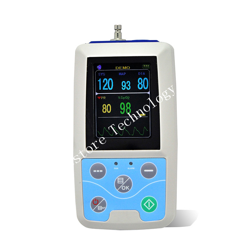 LCD  Pressure Monitor Combo24 hours Ambulatory Blood Pressure Monitor Holter ABPM Holter BP Monitor with software USB cable btl cardiopoint holter h100