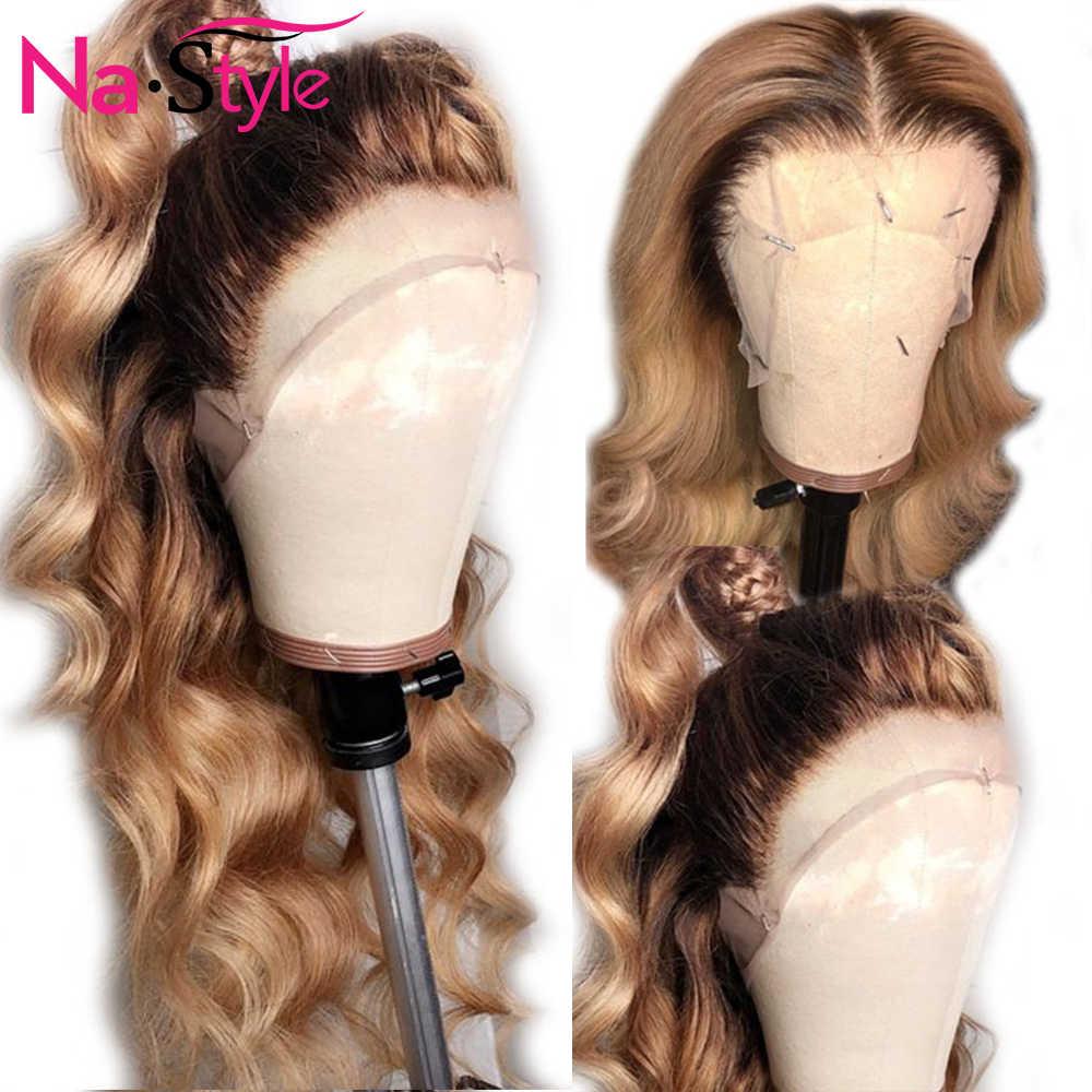 Peluca Frontal de encaje 360 Pre-desplumada con pelo de bebé onda del cuerpo Cola de Caballo Peluca de pelo humano pelucas para negro raíces mujer ola de agua