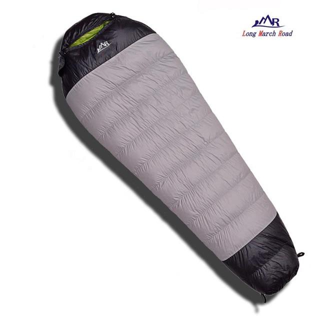LMR Ultralight 400G/600G/800G White Goose Down Filling Waterproof Comfortable Camping Sleeping Bag Slaapzak Lazy Bag