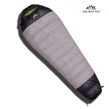 Lmr ultraleve 400g/600g/800g ganso branco para baixo enchimento à prova dslaágua confortável acampamento saco de dormir saco preguiçoso slaapzak