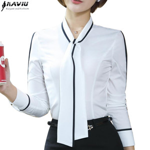 Image 1 - Naviu Neue Mode Frauen Tops und Blusen Blusas Mujer De Moda 2019 Chiffon Hemd Büro Damen Formale Arbeit Tragen