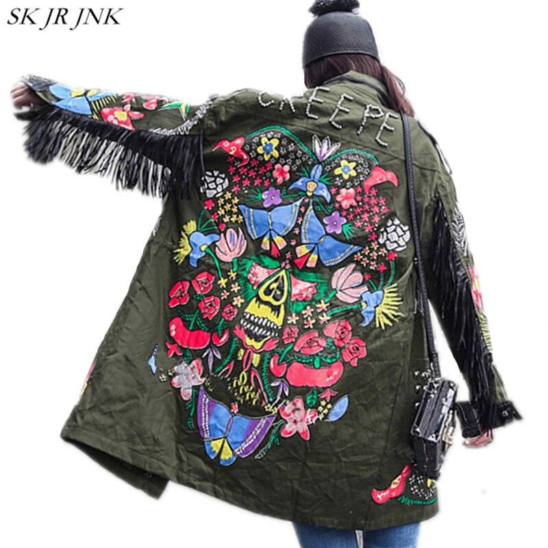 Gland Dame army Harajuku vent Patchwork Éclair 2018 Mode Tranchée Outwear Imprimé Wq156 Green Manteau De Printemps Fermeture Poche Black Coupe Rivet Femmes vzPxawRf