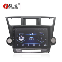 HANG XIAN 10 Quadcore Android 8.1 Car radio for Toyota Highlander Kluger 2008-2012 car dvd player GPS navigation Wifi bluetooth