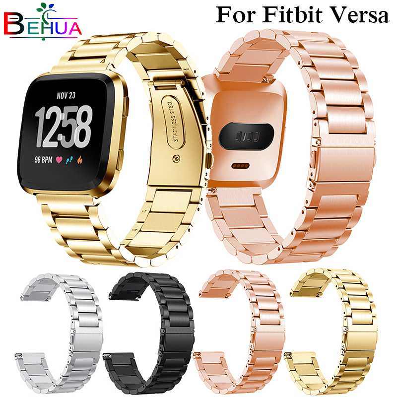 New Arrival For Fitbit Versa Wristband Wrist Strap Smart Watch Band Strap Stainless Steel Watchband Replacement Smartwatch Band soft silicone replacement sport wristband watch band strap for fitbit versa bracelet wrist watchband colorful band new arrival