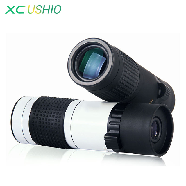 Portable Focus Adjustable Monocular Telescope 15-70X22 FMC Green Film Coated Monocular Telescope 15x Zoom for Watching Sports